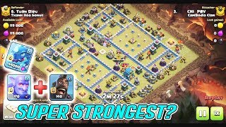 SUPER STRONGEST!! BOWHOG & ANY GROUNDS SMASH TH12 3-STAR ( Clash of Clans )