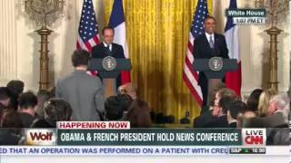 Obama Mocks French Reporter Who Brought Up Socialism