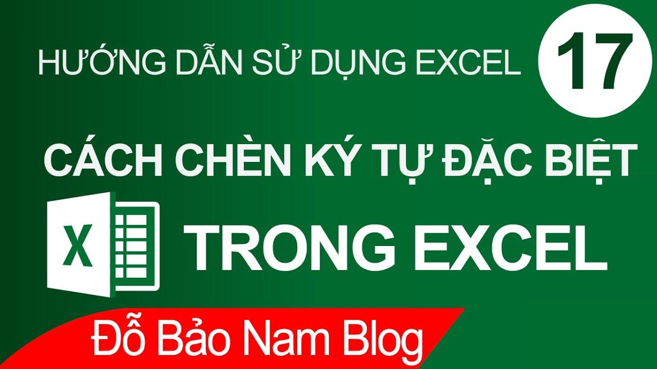Cách chèn ký tự đặc biệt trong Excel, chèn icon Facebook vào Excel
