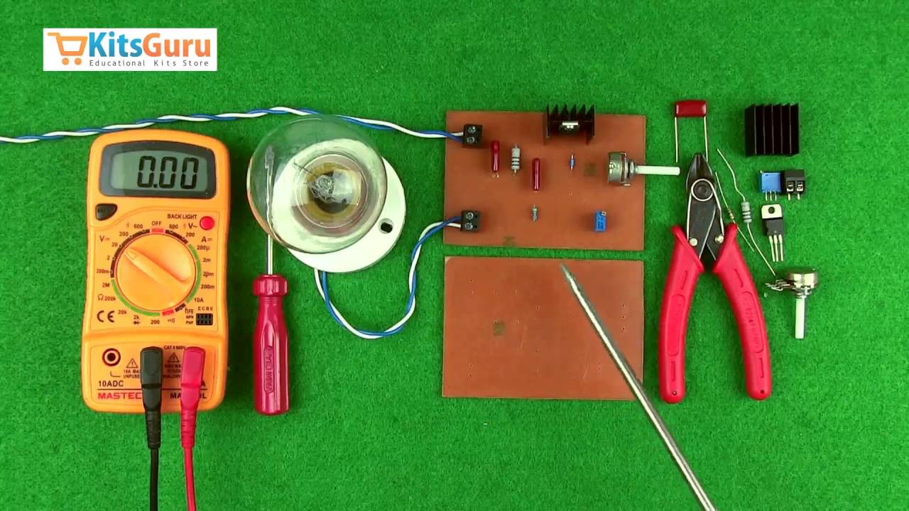 Ac Motor Speed Controller By Kitsgurucom Lgkt111 Youtube 3000 Watts Dimmer For Inductor Load Electronic Projects Circuits