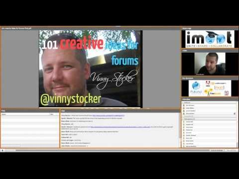 Vinny Stocker - 101 Ideas for Forums - iMoot 2012