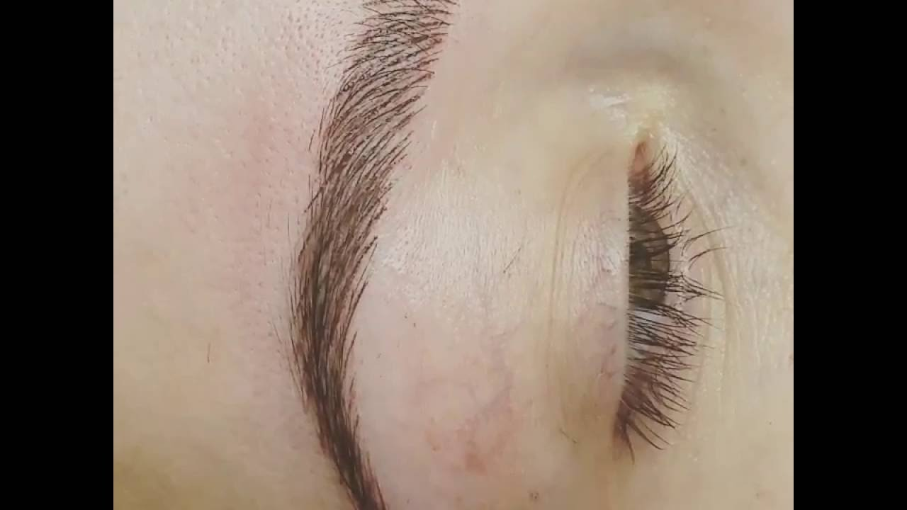 Maquillage Permanent Sourcils Poils A Poils Eden Beaute Youtube