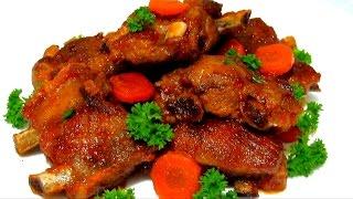Свиные #РЕБРЫШКИ Тушеные в Томатном Соке Сочные и  Вкусные #Рецепт