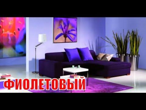 Сочетания с фиолетовым в интерьере