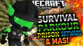 SERVIDOR CON SKYWARS,SPLEEF,PvP & MAS PARA MINECRAFT POCKET EDITION 1.0.8/1.0.9