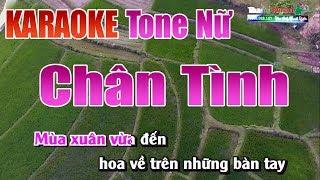 Chân Tình Karaoke | Tone Nữ - Nhạc Sống Thanh Ngân