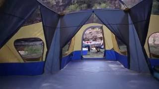 Ozark Trail Base Cąmp 14 Person Cabin Tent 3 Room Family Camping Easy assembly