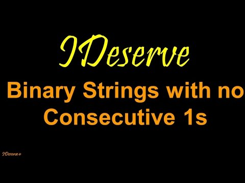 Programming Interview Question: Binary Strings With No Consecutive Ones