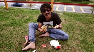 3 Bites challenge Mega Big Mac. Sahut cabaran dari Abugit Studio, & kirim telegram buat Monaliza