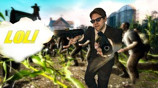 THIS ZOMBIE GAME IS INSANE! Zombie YouTuber Edition (Call of Duty & Left 4 Dead 2 Funny Moments)
