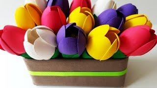 DIY Tulips Flowers From Spoons: Easy Craft Tutorial | Делаем Весенние Цветы. Тюльпаны Своими Руками