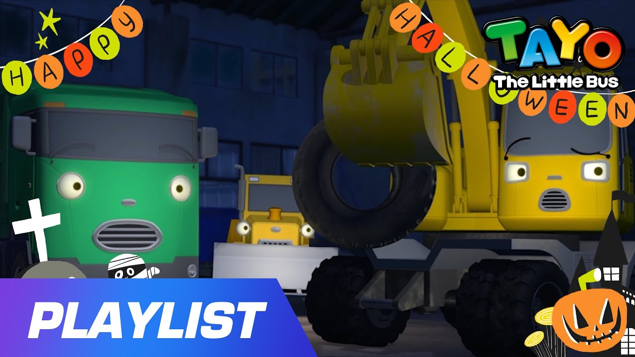 I love halloween | Tayo Halloween Special👻| Halloween Songs For Kids | Strong Heavy Vehicles songs