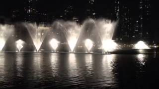 Dubai Fountain Dance on Korean Song