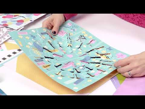 How To Scrapbook Small Photos With Shimelle | Sparkle City Collection