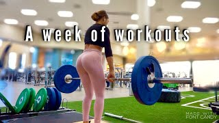A FULL WEEK OF WORKOUTS (MY WORKOUT ROUTINE)