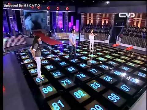 احمد عز وسيرين عبدالنور فى لعب النجوم كامله