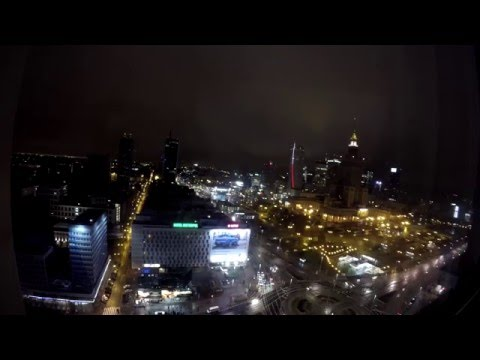 4K Time Lapse Palace of Culture and Science in Warsaw 文化和科学宫在华沙4K定时拍摄