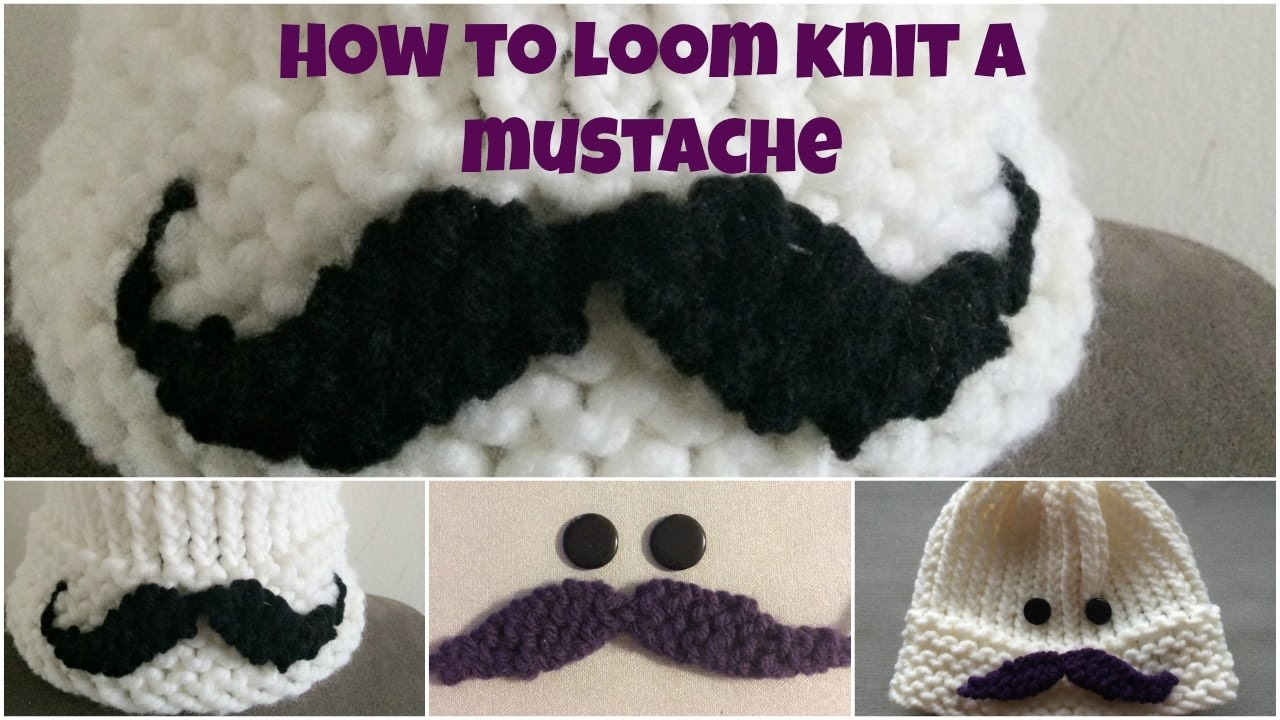How to loom knit a mustache youtube how to loom knit a mustache bankloansurffo Images