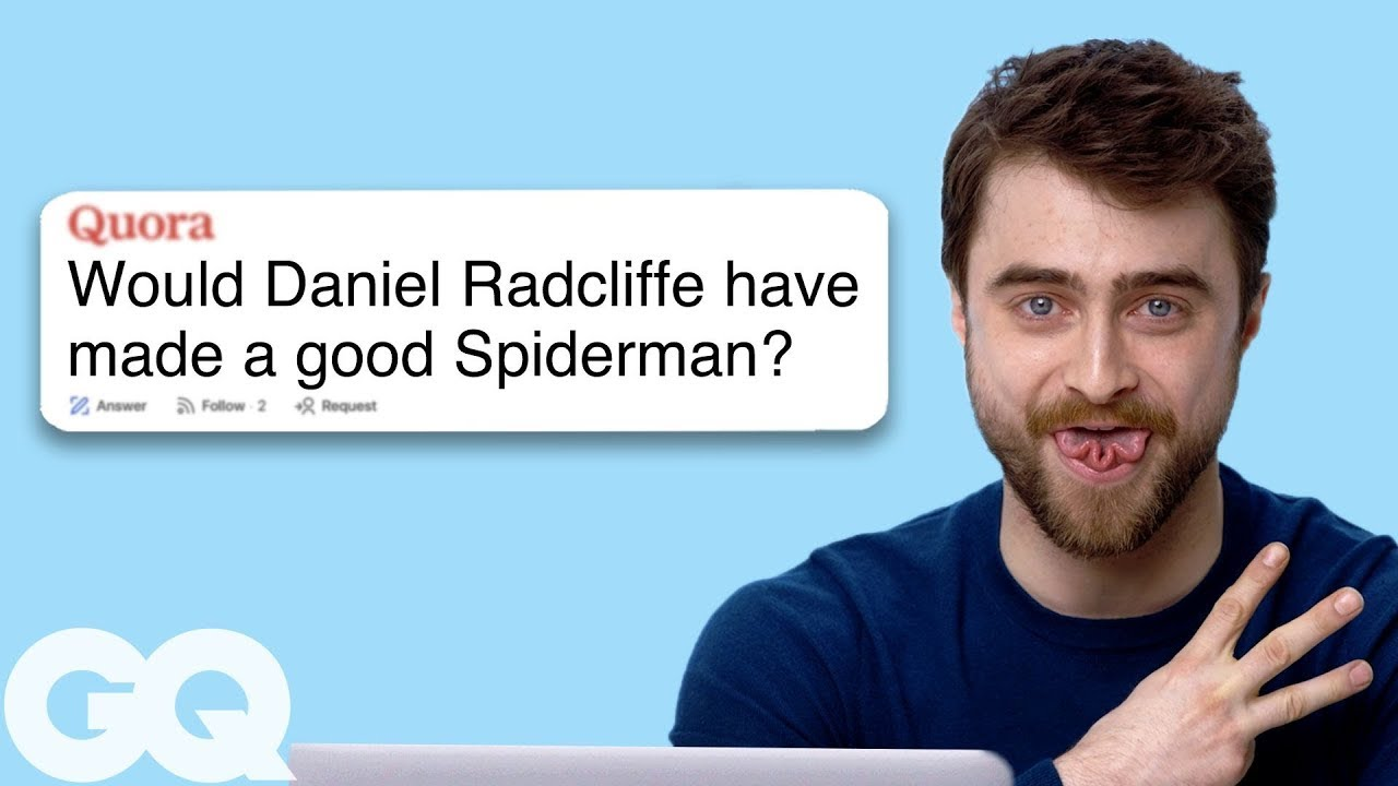 Daniel Radcliffe Goes Undercover on Reddit, YouTube, Quora and Twitter | Actually Me