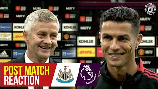 Фото \We Are Here To Win\ Ronaldo Matic \u0026 Solskjaer Reflect On Win Over Newcastle Manchester United