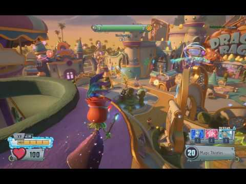 PvzGW2 - parkour locations: seeds of time 1st garden with rose