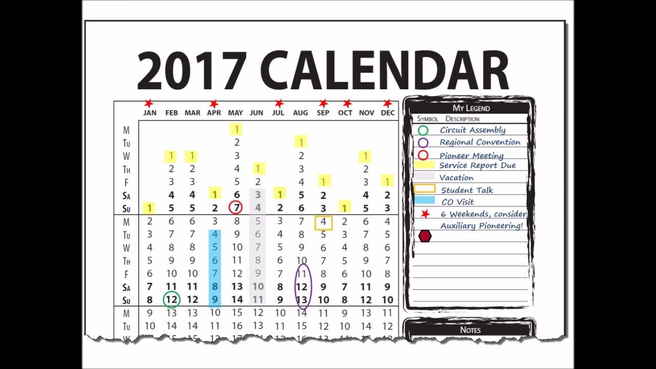 2017 Vertical Wall Calendar For Calendar Year January To December