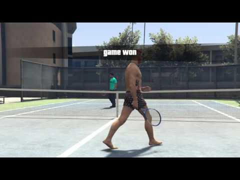 GTA5 ONLINE:Deep Conversation During Tennis