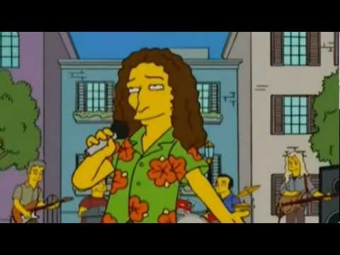 The Simpsons - Homer & Marge (Love Goes On by Weird Al Yankovic) with Lyrics