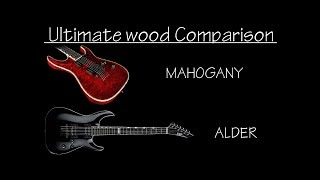 Does guitar wood affect tone ? Alder vs Mahogany Test
