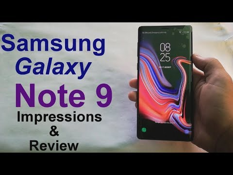 Samsung Galaxy Note 9 Impressions & review (The best Smartphone in 2018)