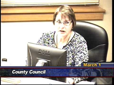County Council, March 1st 2016