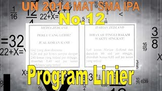No 12 UN 2014  SMA IPA Program Linier - Matematika Soal dan Pembahasan