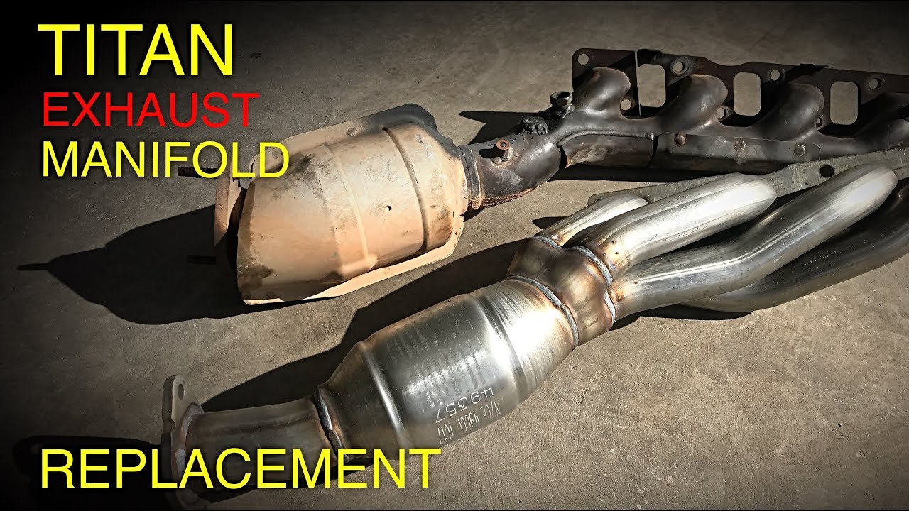 nissan titan exhaust manifold header replacement 2004 2015  [ 1280 x 720 Pixel ]