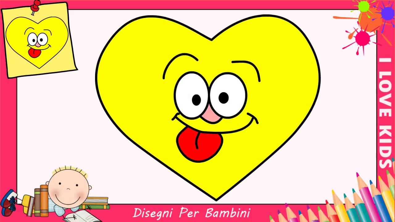 Popolare Disegni di cuori FACILI per bambini | Come disegnare un cuore  NT58