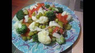 Лёгкий, пикантный, вкусный витаминный салат !