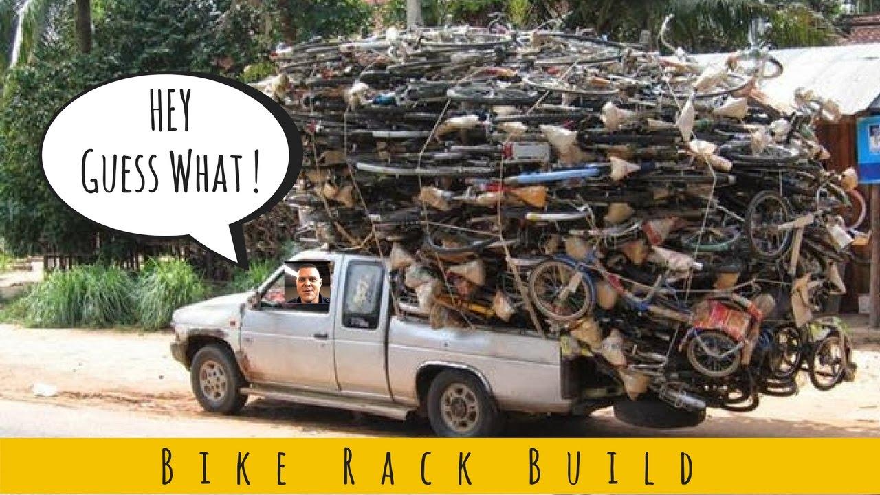 build  hitch mounted bike rack youtube