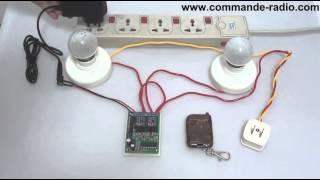 Commande Radio/Émetteur Récepteur Sans Fil 9V 12V 24V 2 Canaux - Mode de Contrôle Triggering