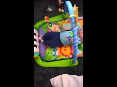Luke's New Mat Toy