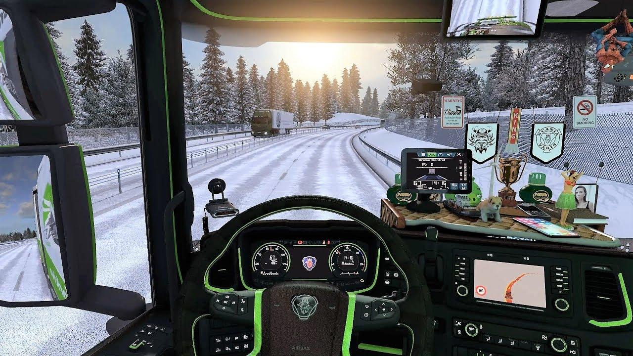 ETS2 (v1.30) - New Scania S730 V8 Sound + Interior + Combo Skin | Frosty Winter!