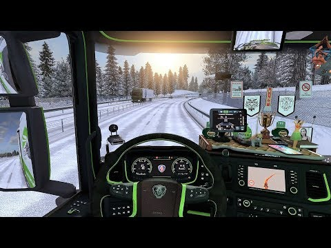 ETS2 (v1.30) - New Scania S730 V8 Sound + Interior + Combo Skin | Frosty Winter!