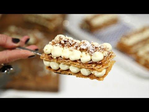Տոնական Նապոլեոն - Mille Feuille Recipe - Napoleon - Heghineh Cooking Show in Armenian