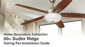 How to install 56 in and 68 in Altura ceiling fan - YouTube Hampton Bay Ceiling Fan Wiring Diagram Model on