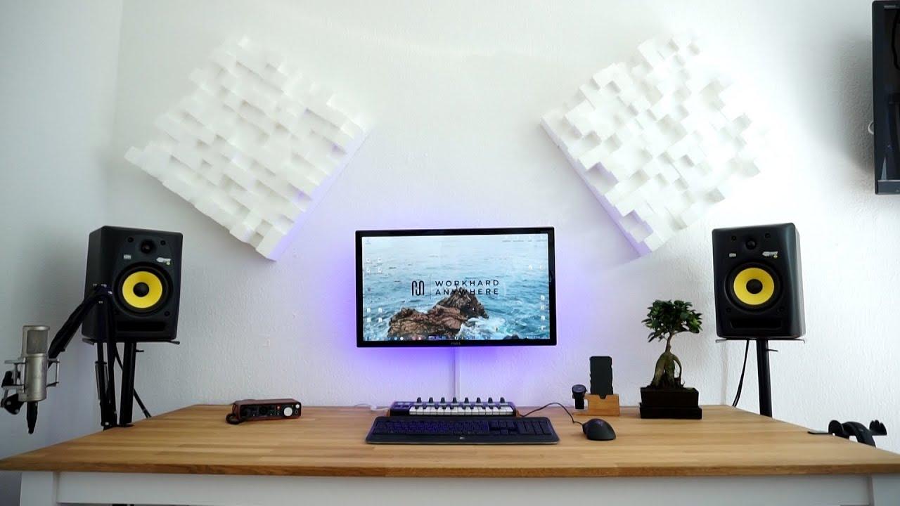 ultimate music producer desk setup 2016 youtube. Black Bedroom Furniture Sets. Home Design Ideas
