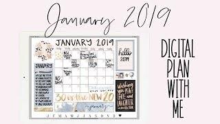 Digital Plan With Me: January 2019