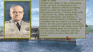 """1942: The Pacific Air War (PC/DOS) Carrier Battles """"Midway"""" 1994, MicroProse"""