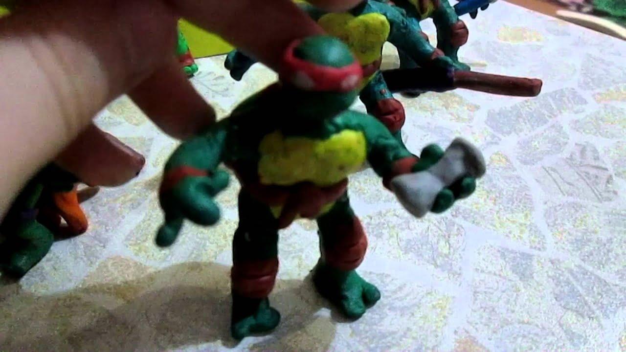 черепашки ниндзя из пластилина фото