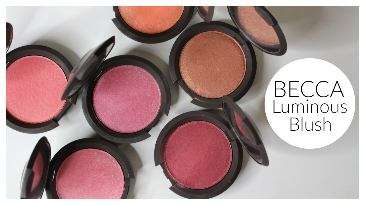 BECCA Luminous Blushes Review & Swatches | Bailey B. - YouTube