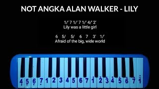 Not Pianika Alan Walker - Lily