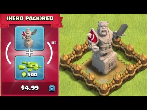Clash Of Clans - BUYING NEW RED UPDATE!!! (KING STATUE!!!) - Clash of Clans wiki