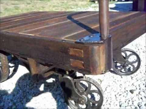 railroad baggage cart restoration - youtube